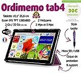 Tablette Senior ORDIMEMO TAB4 2 Go/32 Go (16+16) 10,1' 1280x800 WiFi + (Coque+Stylet OFFERTS) / Noir