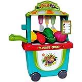 Toyshine Bucket Cum Fruit Set Play Cart Pretend Play Set Toy