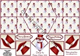 Jolly Pupazzo di neve in rosso doppio diamante Fold da Karen Adair