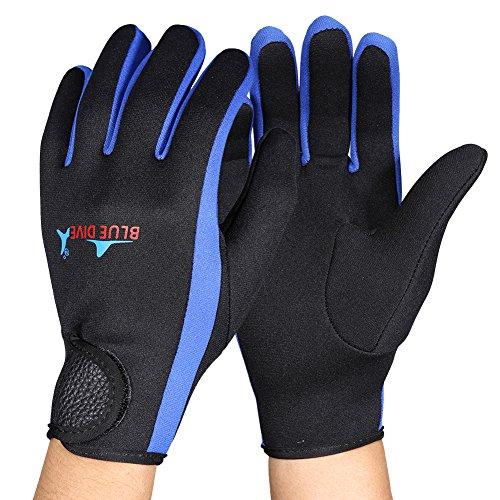 Este par de guantes de buceo es extremadamente suave y ligero. Neopreno y material de nylon tiene una excelente elasticidad y recuperación personaje, que puede liberar sus manos máxima durante deportes de agua. 1.5mm es resistente al frío y durable ...