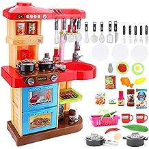 """Deao Toddler Kitchen Playset """"My Little chef con 30accessori gioco di ruolo giocare in rosso"""