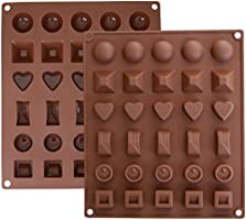 Inditradition Silicone 6 Designs Candy and Ice Mould, 30 Slots, Brown, Standard Size - 1Piece