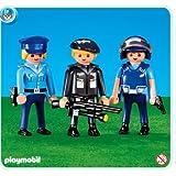 Playmobil 7385 3 Policiers (Article livré sans emballage)