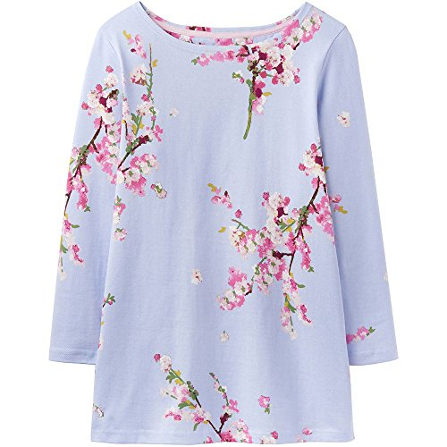 Joules Ladies Harbour Mariners Grade Cotton Jersey Top Navy Light Blue Blossom