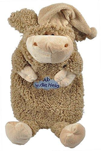 Wärmflasche Schaf Wollschäfchen mit Einstickung - Ab in die Heia - 39316 braun