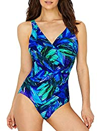 8ed623a24a Miraclesuit Womens Flamenco Oceanus Soft Cup Swimsuit Blue