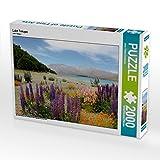 CALVENDO Puzzle Lake Tekapo 2000 Teile Lege-Größe 90 x 67 cm Foto-Puzzle Bild von Jana Thiem-Eberitsch