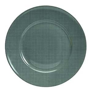 Novastyl 4060241 Lot de 6 Assiettes Wales Grès Gris 27,3 x 27,3 x 2,4 cm