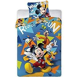 Mickey Disney Fun - Parure de lit - Housse de Couette - lit 1 Place