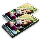 Personalisierte Premium Foto-Handyhülle für Huawei-Serie selbst gestalten mit Foto bedrucken, Hülle:TPU-Silikon / Schwarz Matt, Handymodell:Huawei P8