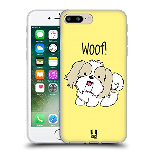 Head Case Designs Occhiali Pattern Hipster Cover Morbida In Gel Per Apple iPhone 5 / 5s / SE Shih Tzu