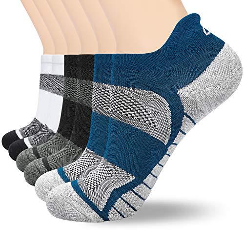 anqier Sneaker Socken Herren Damen Kurze Socken Sportsocken   Größe 35-38, 39-42, 43-46, 47-50 (6 Paar) (Manschetten Sperren Schuh)