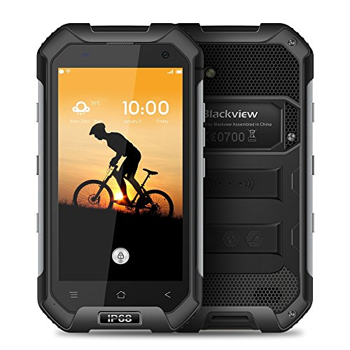 BlackView BV6000 4.7 pollici 4G Smartphone Android 7.0 MTK6755 64bit Octa core 2.0GHz 5MP 3GB di RAM 32GB ROM + 13 MP telecamere IP68 impermeabile Corning Gorilla Glass 3 NFC (Nero)