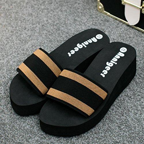 Webla Frauen-Sommer-Sandalen Slipper Indoor Outdoor Flip-Flops Strand-Schuhe B