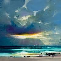 """Scott Naismith AFWDC95662 """"West Coast Blues II"""" Canvas Print, Cotton, Multi-Colour, 3.20 x 40.00 x 40.00 cm"""