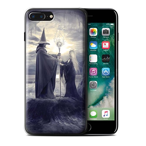 Officiel Elena Dudina Coque / Etui pour Apple iPhone 7 Plus / Somnambule/Insomnie Design / Magie Noire Collection Maestro/Sorcier