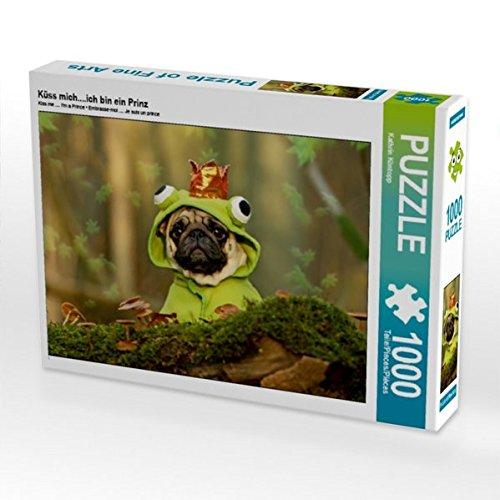 CALVENDO Puzzle Mops Küss mich....ich bin ein Prinz 1000 Teile Lege-Größe 64 x 48 cm Foto-Puzzle Bild von Kathrin Köntopp (CALVENDO Tiere)