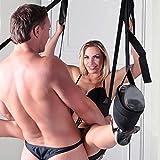 Hot Dreams Liebesschaukel für die Tür mit Sitz, Extrem heiße BDSMS Sexschaukel für Paare, Immer und überall geiler Sex mit unserer extra robusten Türschaukel belastbar bis 120 kg -