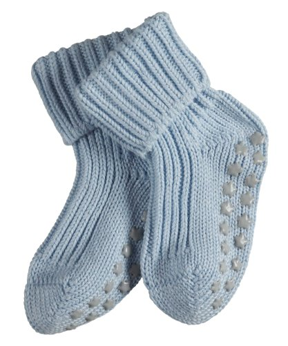 FALKE rutschfeste Cotton Babys Socken Babysocken Catspads - blau, 1 Paar, Noppen (ABS), für Jungen Mädchen, Stoppersocken
