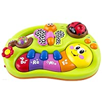 eastsun Early Education 6 Months Olds Baby Toy Learning Machine Toy with Lights and Music Songs Various Talking & Sounds Learning Story for Toddlers Children & Kids Boys and Girls