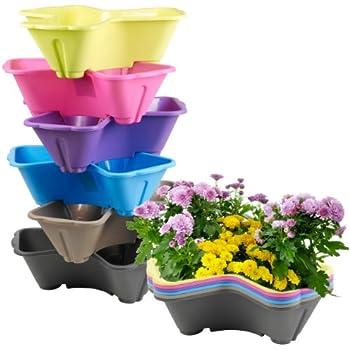 Lot De 6 Plastique 3 Sections Support Pour Pot De Fleurs