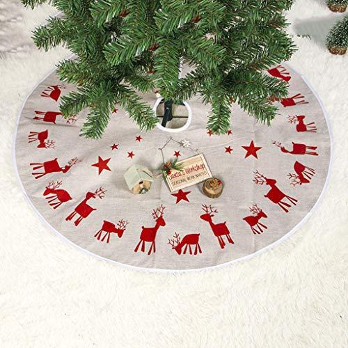 ToDIDAF Weihnachtsdeko 100cm Elch Print Weihnachtsbaum Rock Weihnachtsbaum Dekoration Dekorative Verzierungen für Festival Hochzeit Geburtstag Party Zuhause Fußboden Dekor