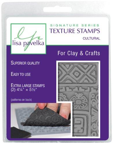 Großartig schaffen Gummi Lisa Pavelka Textur Stempel-Set 10,8cm x 14cm 2kg-Cultural-Ancient Doodles Und ethnischen Grenze