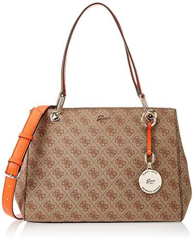 Guess - Bags Hobo, Bolsos bandolera Mujer, Varios colores (Brown Multi), 15x24x32.5 cm (W x H L)