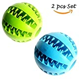 Dog Treat Toy Ball, Rubber Dog Food Ball,Dog Tooth Cleaning Toy Ball, Interactive