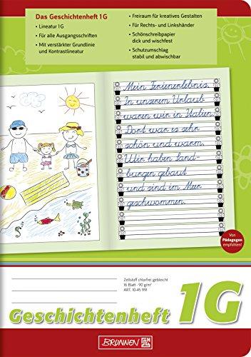 Brunnen 1045991 Geschichtenheft Klasse 2 (A5, 16 Blatt, Lineatur 1G)