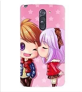 Printvisa Animated Girl and Boy in Love Back Case Cover for LG G3 Stylus::LG G3 Stylus D690N::LG G3 Stylus D690