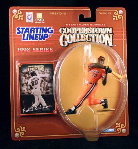 FRANK ROBINSON / BALTIMORE ORIOLES 1998 MLB Cooperstown Collection Starting Lineup Action Figure & Exclusive Trading Card Orioles Cooperstown Collection