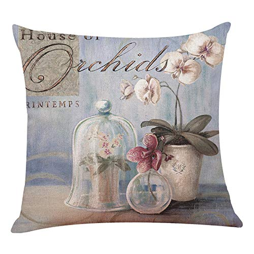 UYSDF Fashion Pillowcase 45 * 45 cm,Home Decor Cushion Cover Flowers Throw Pillowcase Pillow Covers New