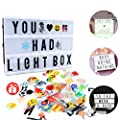 Cinematic A4 Light Up Box,RESON Led Message Light Board,Light Up Wall Sign with 104 Letters and 85 Emojis - cheap UK light store.