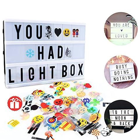 Leichte Box, CrazyFire LED Lichtkasten A4, Boxen Beleuchtung,Gestaltbare Leuchtende Kinotafel