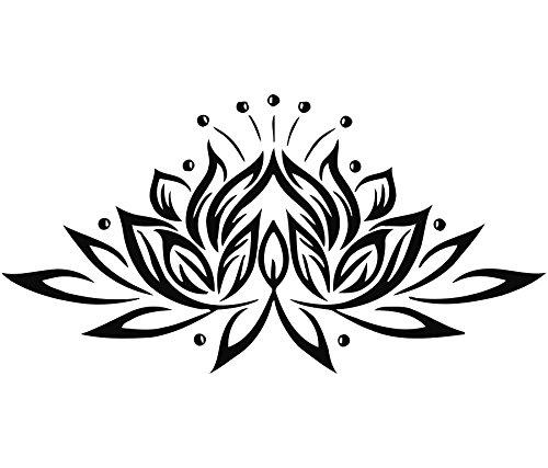 Adesivi murali fiori di loto in vinile adesivo per la cucina window nursery bedroom home decor arte murale ah39