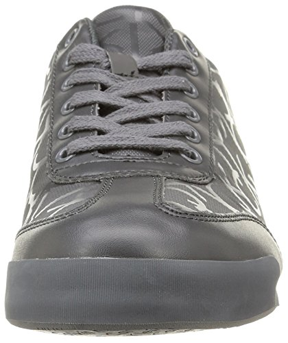Calvin Klein Cale Matte Smooth/Rub Ck Logo, Sneaker basse uomo Grigio (Graphite)