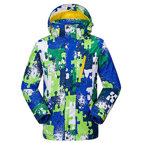 Kind Im Freien Sport Zweiteiliger Anzug Jacken Mädchen männlich Herbst und Winter Tarnung Winddicht Wasserdicht ()