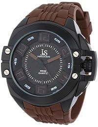 Joshua & Sons Reloj Correa de Silicona de Cuarzo Suizo Crown – Protector ...