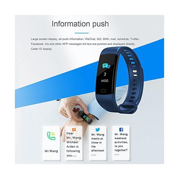YILON Pulsera Actividad Fitness Tracker Pulsera Inteligente Reloj Fitness Podómetro Monitor de Ritmo cardíaco IP67… 5