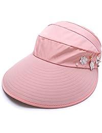 9aaacd0ad6a80 Magracy Women Sun Visor Hats Summer UV Protection Cap Wide Brim Beach Visor  for Ladies
