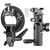 Neewer Supporti Staffe Tipo S & Tipo E Professionali Universali con Attacco Bowens per Speedlite Flash Snoot Softbox Beauty Dish Riflettori Ombrelli & Altri Accessori Fotografici