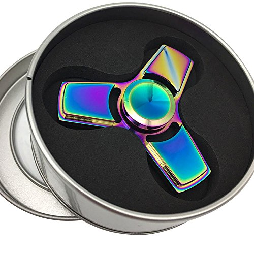 Airsson Fidget Hand Spinner Tri Figit EDC Spinner Focus Toys Stress Reducer for Kids and Adult (Multicolor)