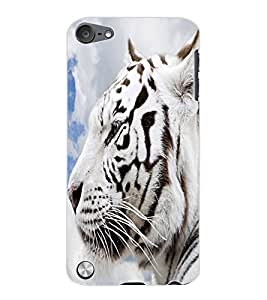 ColourCraft White Tiger Look Design Back Case Cover for APPLE IPOD TOUCH 5