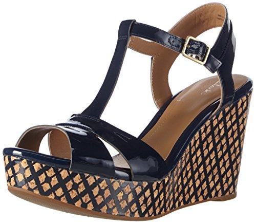 clarks-amelia-roma-womens-wedge-heels-sandals-blue-navy-patent-7-uk-41-eu