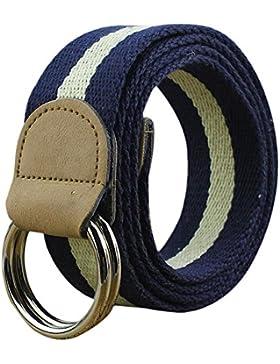 Namgiy - Cinturón elástico para hombre, tejido elástico, hebilla trenzada, cinturón ancho para pantalones, pantalones...