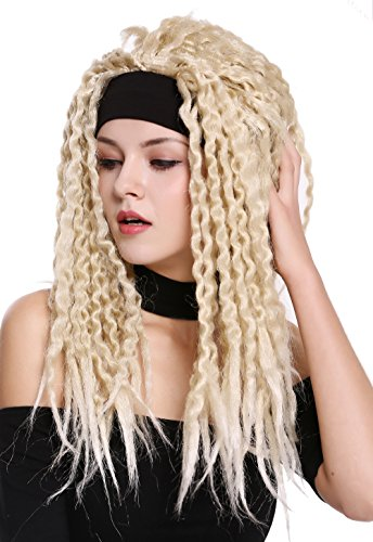 WIG ME UP - 90837-ZA89/ZA88 Perücke Karneval Halloween Stirnband Dreads Dreadlocks Rasta Karibik Afro Blond Mix