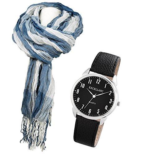 coffret-cadeau-pour-homme-horloge-avec-mouvement-a-quartz-plus-echarpe-modele-genius-rayures-bleu-bl