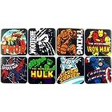 Marvel - Comic Untersetzer Bierdeckel Superhelden HULK CAPTAIN AMERIKA THOR 8er Set