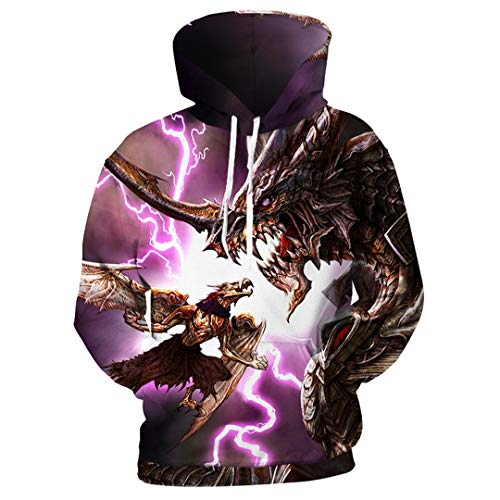 3D Hoodies Männer Drachen Dinosaurier 3D Print Männer Mit Kapuze Sweatshirts Hip Hop Hoodies Pullover Kühlen Mantel 4XL Trainingsanzug Photo Color XXL